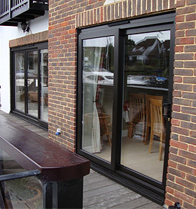 Black Solidor Double Doors