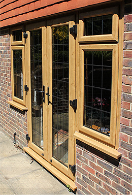 French Doors in Golden Oak