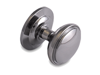 decorative door knob in chrome