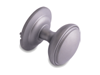 decorative door knob in hardex satin