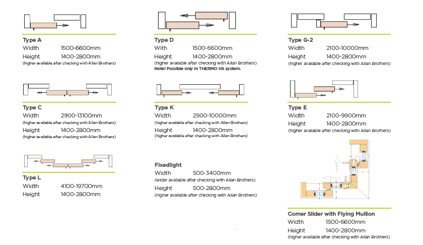 Configuration details for Sliding Timber Doors Derby, Derbyshire