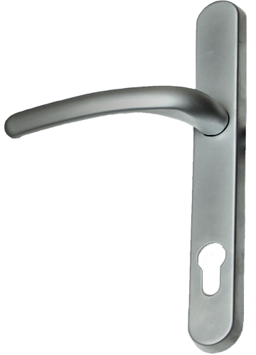 hardex graphite traditional door handle from AJ Windows and Doors