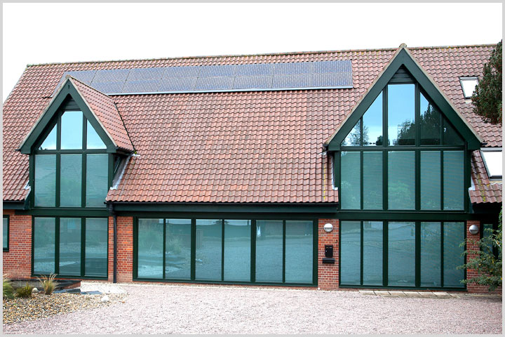 solar glazing solutions from AJ Windows and Doors