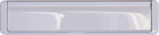 white premium letterbox from Atherstone Glass & Glazing