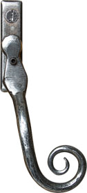 classic pewter monkey tail handle from Burgess Windows and Doors
