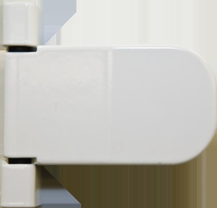 white standard hinge from Burgess Windows and Doors