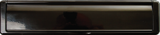 black letterbox from Clarity Glass and Glazing Ltd