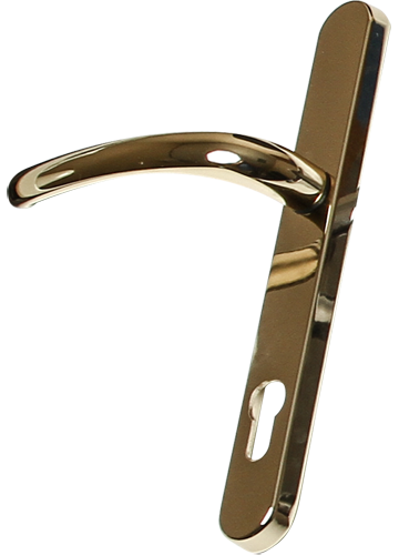 hardex gold traditional door handle from Clarity Glass and Glazing Ltd