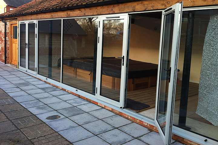 aluminium french doors leicestershire