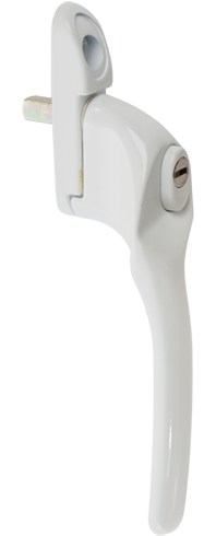 traditional white cranked handle- from Diamond Windows Droitwich