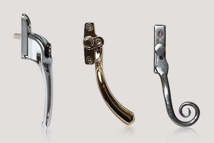 window handles from The Door and Window Company