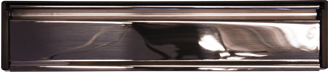 chrome letterbox from The Door and Window Company
