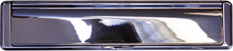 bright chrome premium letterbox from Hall Glazing Ltd
