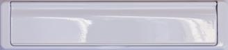 white premium letterbox from Hall Glazing Ltd