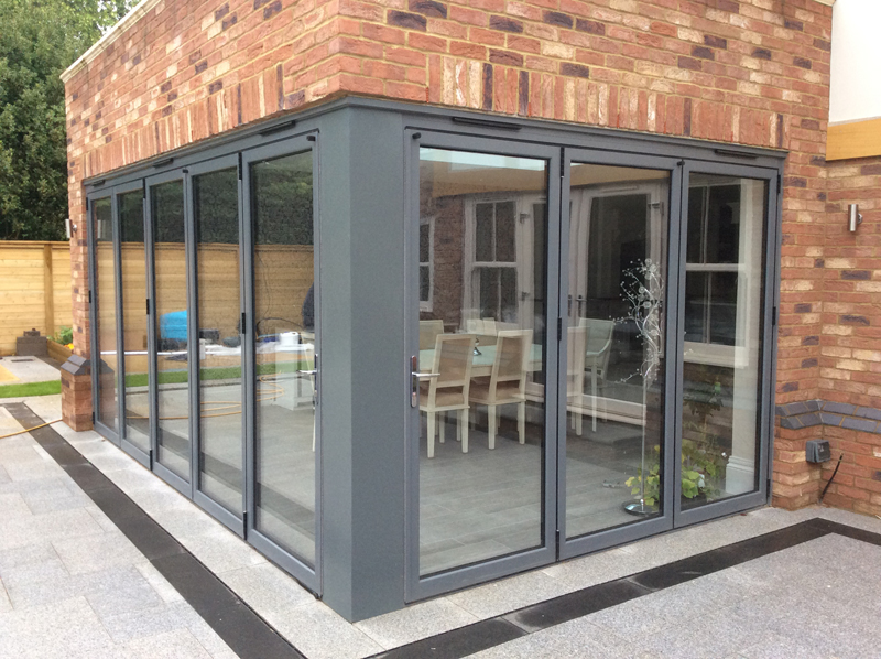 Aluminium multifolding doors northwood harrow and seven for Northwood windows