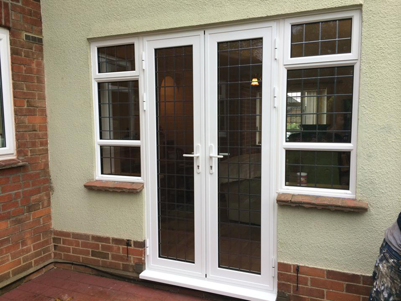 Aluminium single and french doors northamptonshire from in windows ltd for Aluminum french doors exterior