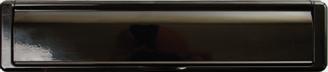 black letterbox from Milestone Windows, Doors & Conservatories