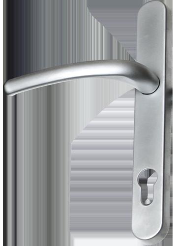 brushed chrome traditional door handle from Milestone Windows, Doors & Conservatories
