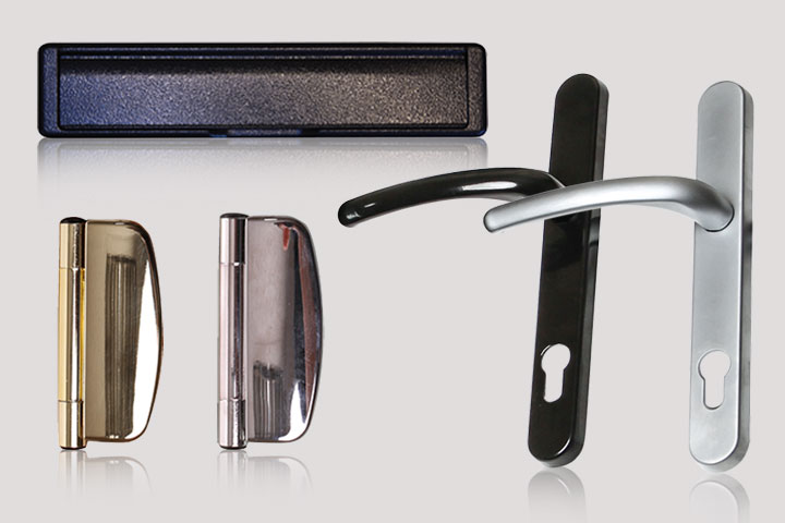 door handles from Milestone Windows, Doors & Conservatories