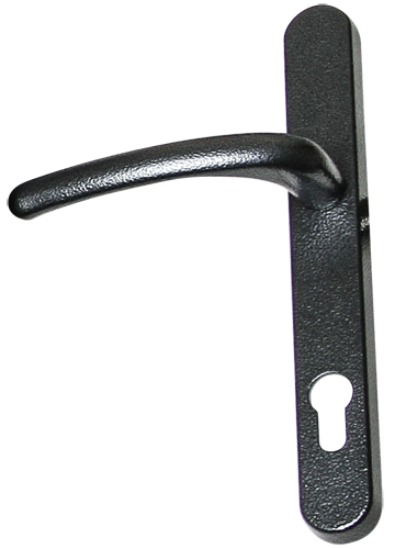 antique black traditional door handle from Newglaze Windows Doors and Conservatories