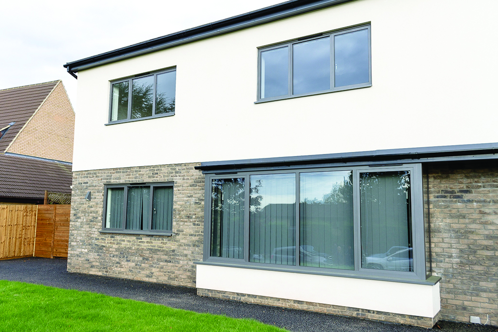 grey aluminium windows leicestershire