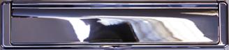 bright chrome premium letterbox from Oakham Home Improvements