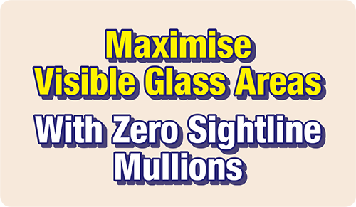 Zero Sightline Mullions from Poole, Dorset