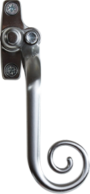 elegance brushed chrome monkey tail handle from P.R windows Ltd