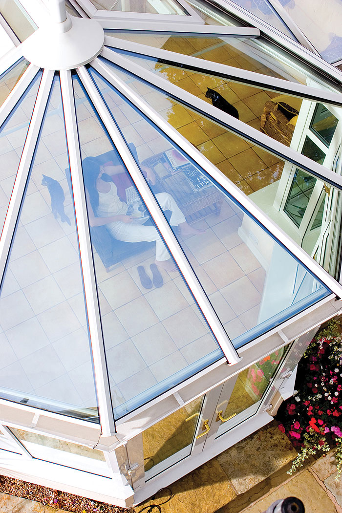 enhanced conservatory roofs from P.R windows Ltd
