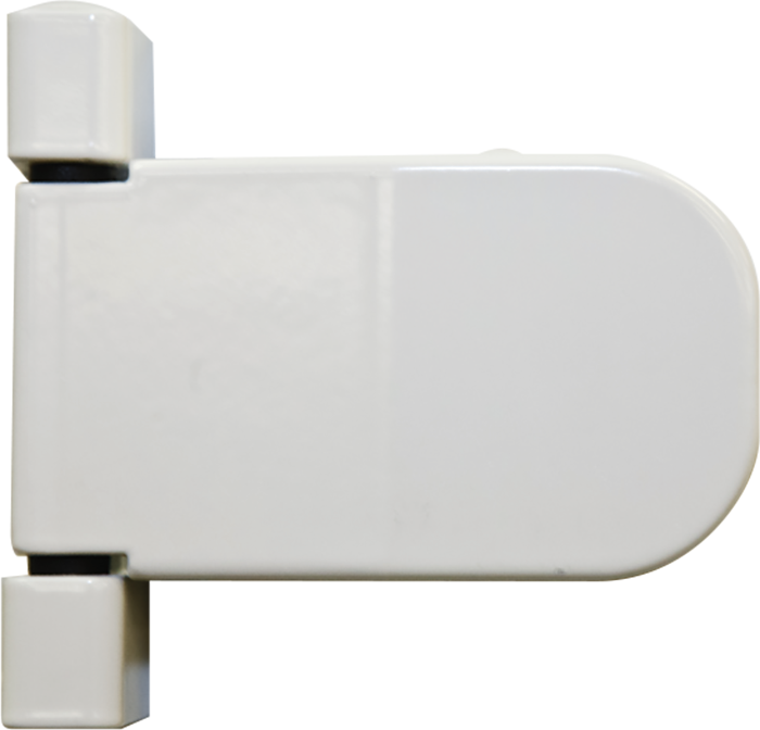 white standard hinge from Premier Home Improvements