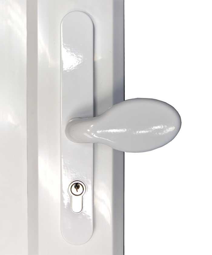 choices pad handlechoices door lever lever handle from Price Glass and Glazing Ltd