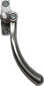 brushed chrome tear drop handle from Ridon Glass Ltd