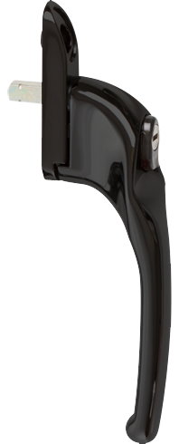 traditional-black-cranked-handle-from-Ridon Glass Ltd