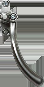 brushed chrome tear drop handle from Sandwich Glass Ltd