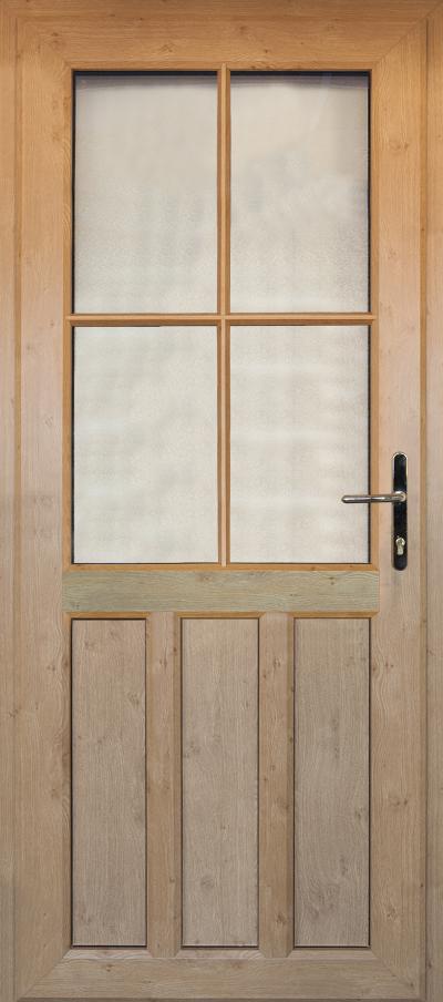 timber alternative single back door corby