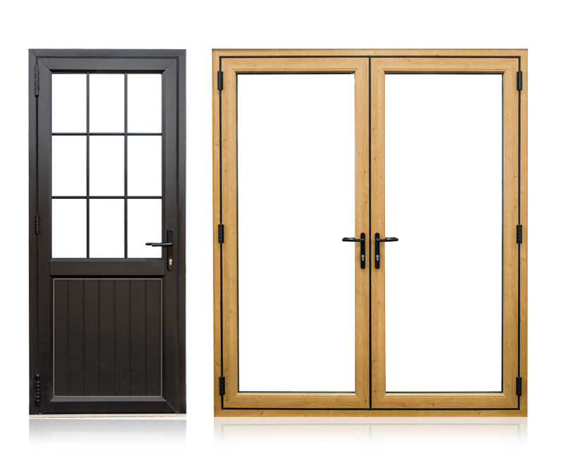imagine single double doors corby