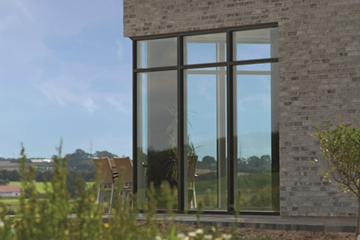 Aluminium Clad Flush Casement Timber Windows from telford