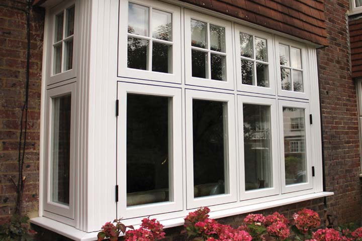 Flush 75 timber alternative windows corby
