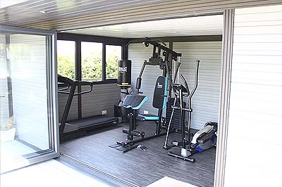 gymnasium garden room studio Stafford and Staffordshire