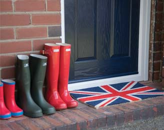 Wellington boots outside a Residor
