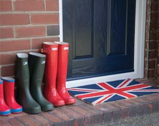 Wellington boots outside a Residor