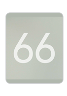Sandblasted Glass + Clear Numbers