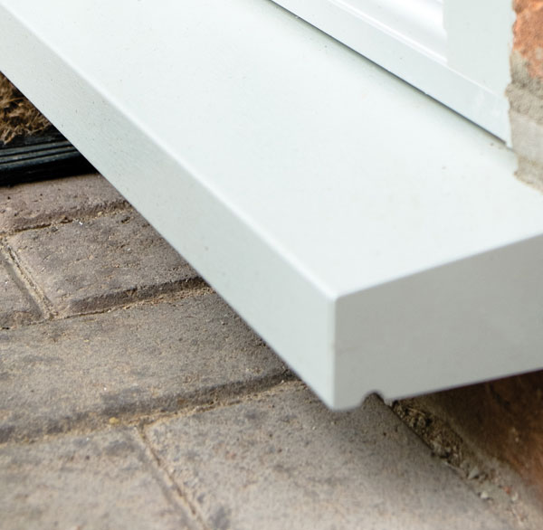 Close up of 55mm radlington cill upgrade