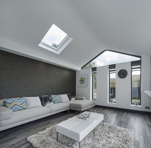 Internal view of WARMroof with skylight