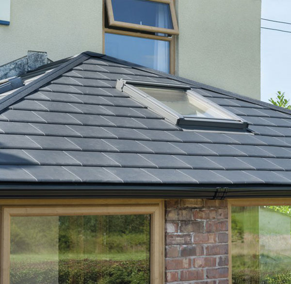 External view of WARMroof with skylight
