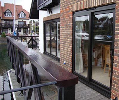 Black patio sliding doors